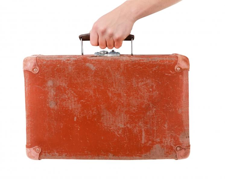 Gammal väska