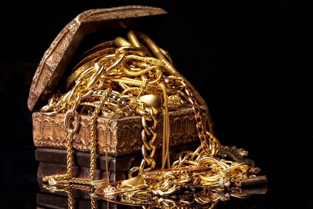 Överblivna guldsmycken